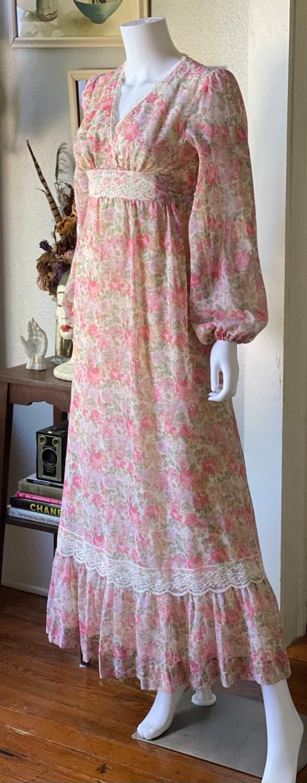 Vintage 1970's floral Gunne Sax style prairie dre… - image 4