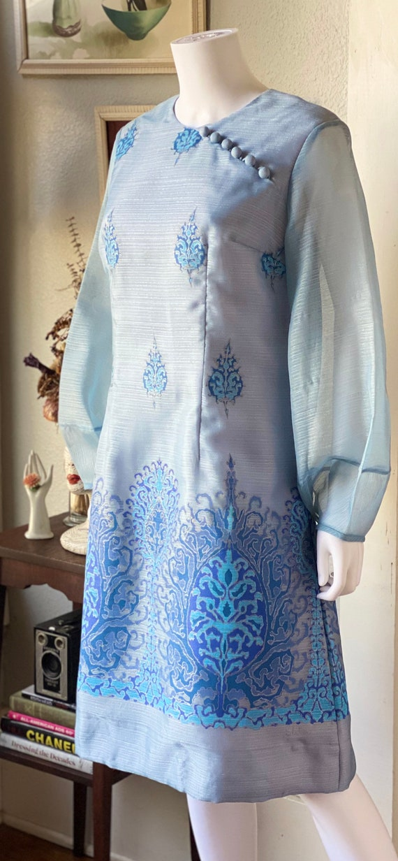 Vintage 1970's Alfred Shaheen dress - image 4