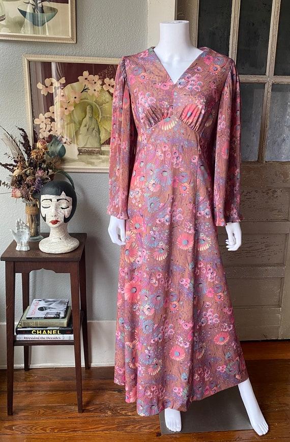 1970's novelty print maxi dress - image 2