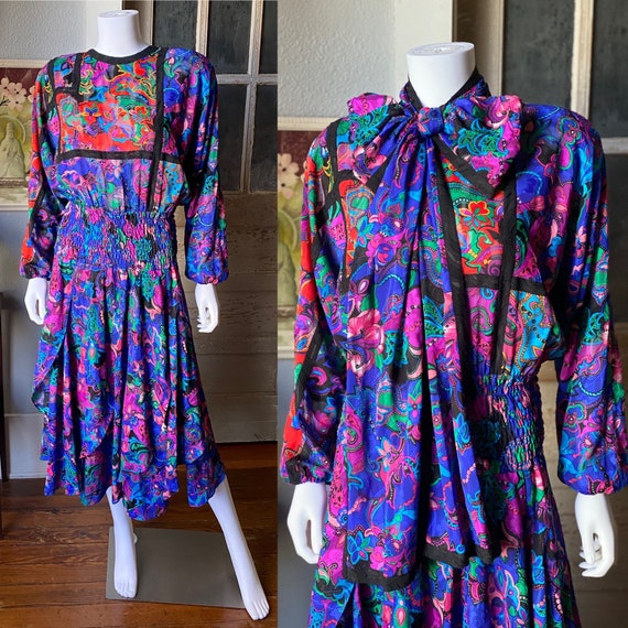 1980's Diane Freis dress