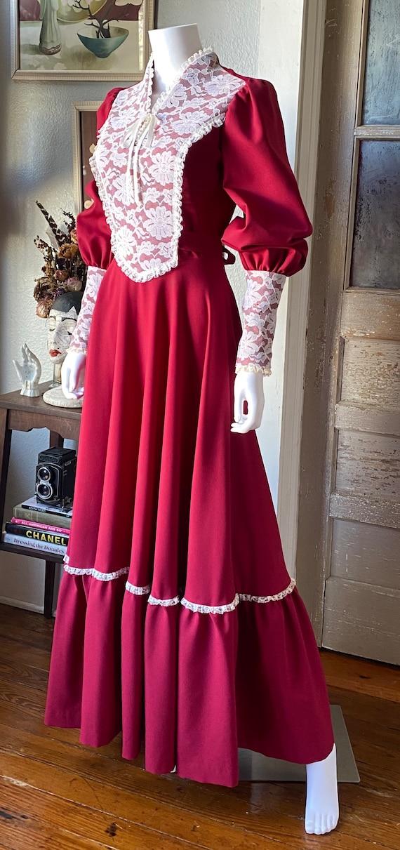 1970's Gunne Sax Style Renaissance dress - image 4