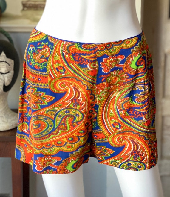 Vintage 1960's paisley print psychedelic hostess … - image 7