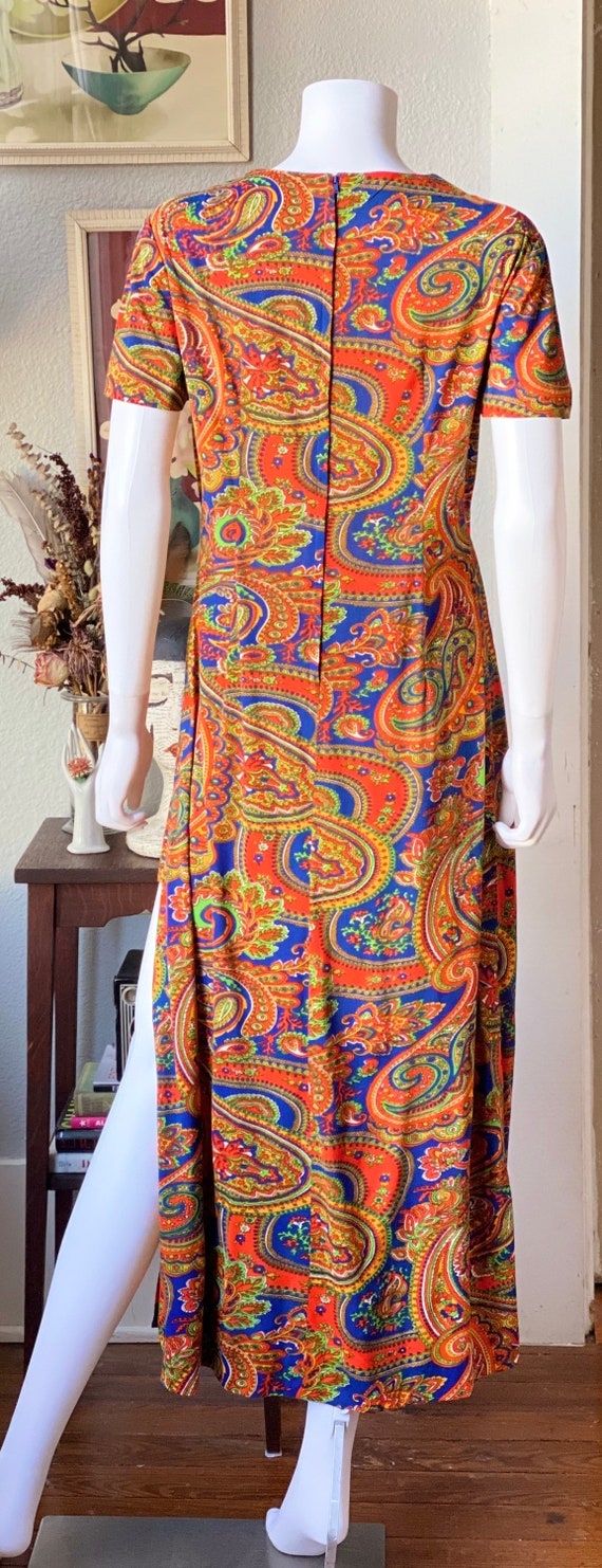 Vintage 1960's paisley print psychedelic hostess … - image 6