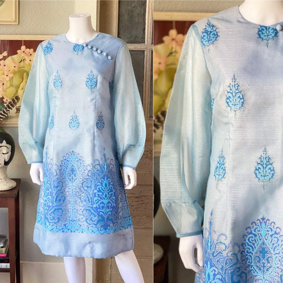 Vintage 1970's Alfred Shaheen dress - image 1