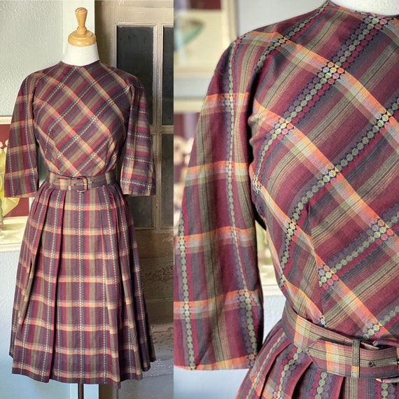 Early 1960's plaid dress by Nelly Don
