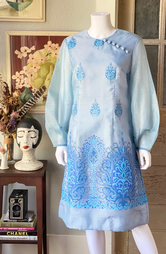Vintage 1970's Alfred Shaheen dress - image 2
