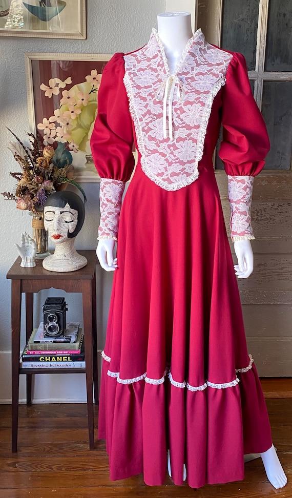 1970's Gunne Sax Style Renaissance dress - image 2
