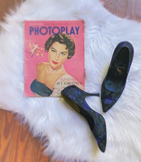 1950's brocade Pandora footwear heels