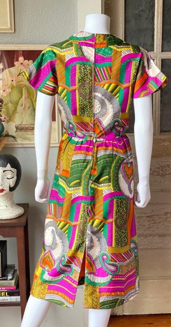 Vintage 1960's psychedelic print dress - image 6