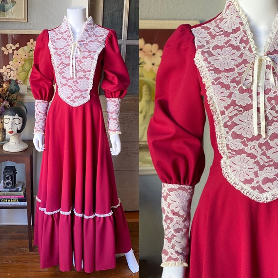 1970's Gunne Sax Style Renaissance dress - image 1