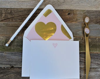 Give a Little Love Initial Stationery Set
