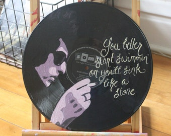 """Bob Dylan """"The Times, They Are A-Changin"""" Lyric Record Painting"""
