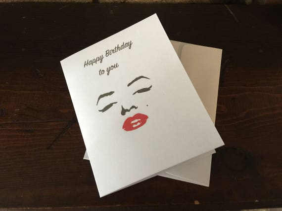 Happy Birthday To You Birthday Card Marilyn Monroe Etsy