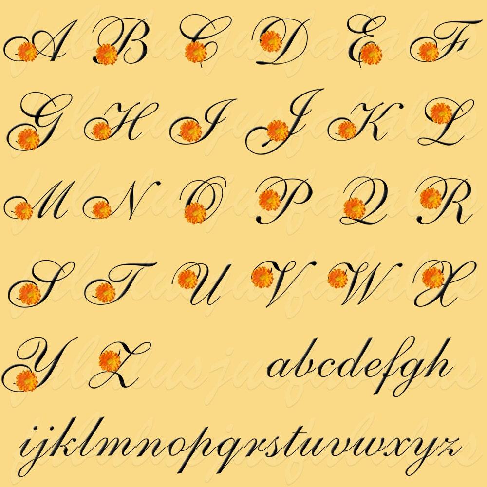 Alphabet Letters Numbers October Birthday Flower Calendula Etsy