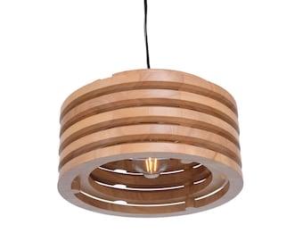 Wood pendant light etsy more colors solid oak wood pendant lights decorative wooden lighting fixtures aloadofball Gallery