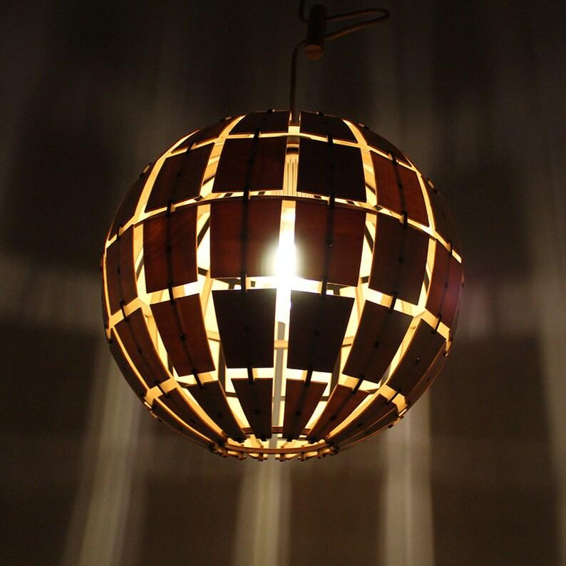 Spherical solid wood pendant light,\u00a0Natural\u00a0wooden\u00a0color,4\u00a0kinds\u00a0of\u00a0different\u00a0colors cord,110-240 V50-60 Hz,\u00a0\u00a0Free\u00a0Shipping\u00a0Worldwide.