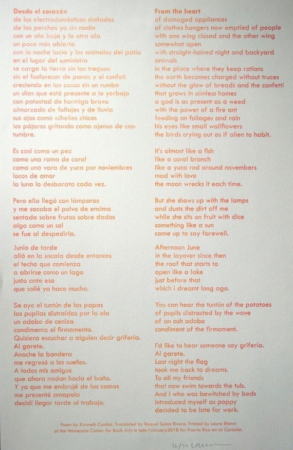 Desde El Corazon By Kenneth Cumba From The Heart Translated By Etsy