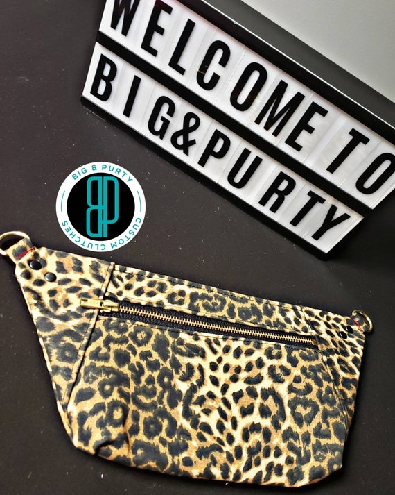 Leopard Slim Fanny Pack