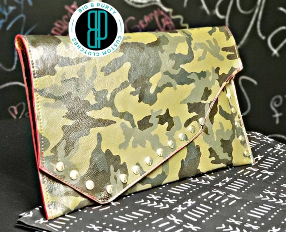 Leather Camo Envelope