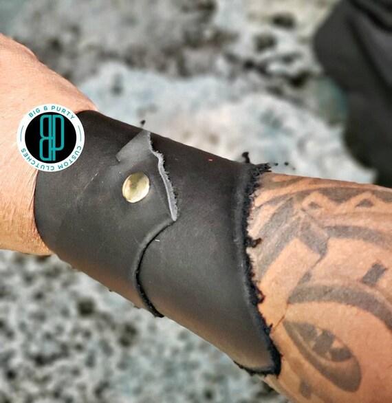 Multiple Leather Cuff Bracelets