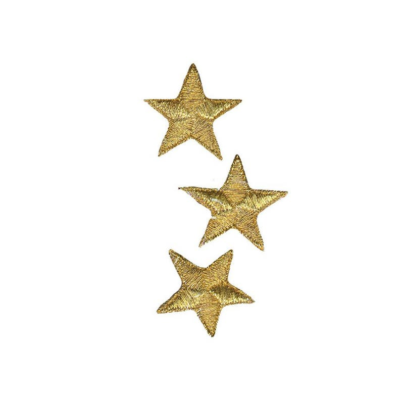 """Iron on Applique//Embroidered Patch 150031 STARS PACK of 10 PCS 5//8/"""""""