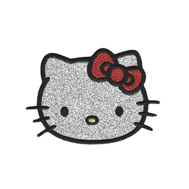 Hello Kitty Head Sewing On Patch Iron On Patch Applique Sewing