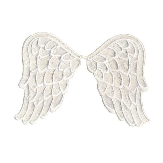 Angel L Embroidered Gold Metallic Iron On Applique Patch Christmas LG