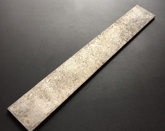 35x250x4mm Stainless Damascus Steel Random Pattern Knife Handle Billet Blank Scale Heat Treated Blade Sheet Parts