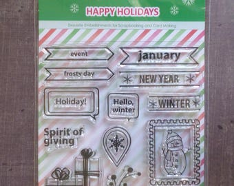 Stamp clear snowman Christmas gift