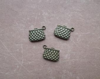 3 Breloques Metal Bronze Mode Accessoire Pochette Porte Monnaie