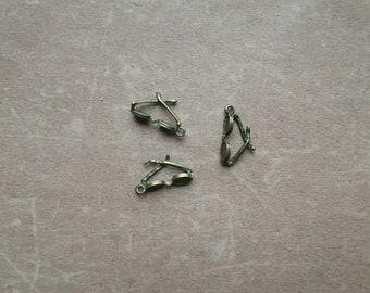 5 Breloques Metal Bronze Mode Accessoire Petite Lunette vue soleil