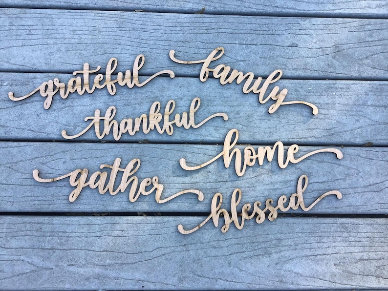 blessed wood place cards wood place cards gather place cards thankful place cards thanksgiving wood place cards table wood place cards