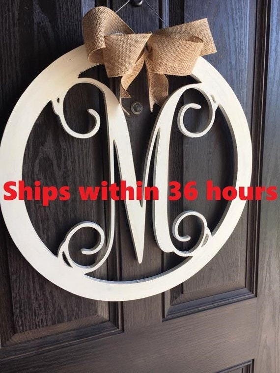 Personalized Monogram Oval Welcome Door Hanger