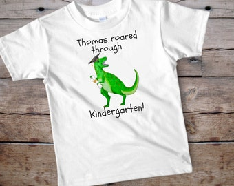 Graduation shirt, graduation shirt for kid, custom graduation shirt, kindergarten shirt, kindergarten graduation, dinosaur shirt, dinosaur