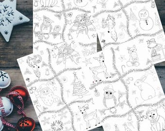 Christmas Advent calendar, advent calendar, advent Christmas calendar, Christmas coloring pages, printable coloring pages, coloring page pdf