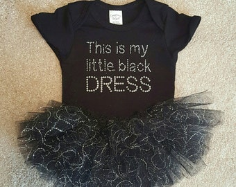 This is my little black dress onesie and tutu set.
