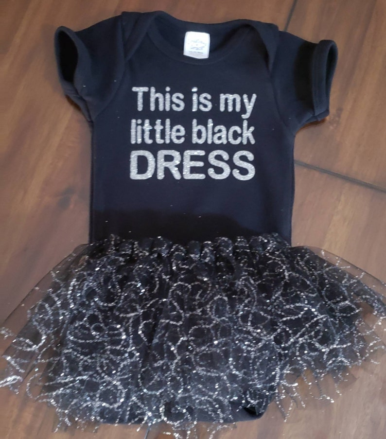 3369cf282 This is my little black dress onesie and tutu set. | Etsy