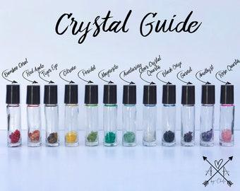 10 ml Essential Oil Crystal Slice Roller Bottle