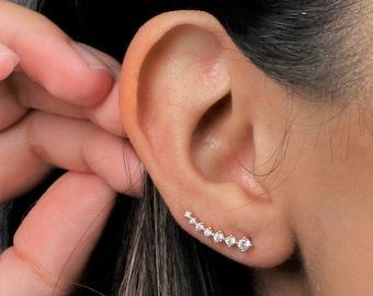 Minimalist ear climbers   ear crawlers earrings   ear climber earrings   ear crawlers   ear pins   ear sweeps