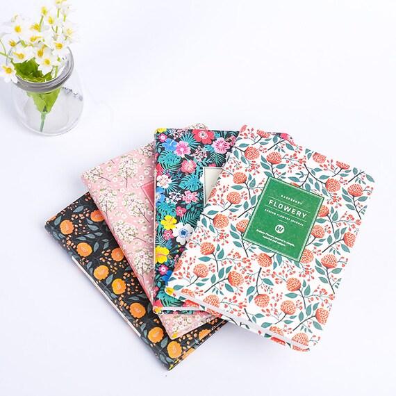 Cute Planner, Flower pattern Notebook, Weekly Planner, School Planner, Cute  Journal, Floral Pattern