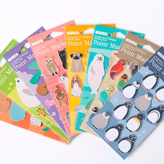 cute sticky notes midori sticky notes memo notes planner etsy
