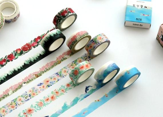 Watercolor Washi Tape Cute Washi Tape Packaging Tape Gift