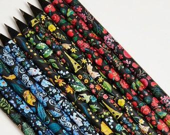 Pretty Pencils Gift Set, Pencils Set, Pencils Favors, Black Pencils, Back to School, Cute Pencil Set