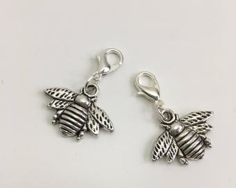 Bee stitch markers or progress keepers (set of 2)