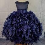 Solid Navy Blue flower girl dress,navy blue flower girl dress,ball gown flower girl dress,navy blue birthday dress,flower girl dress