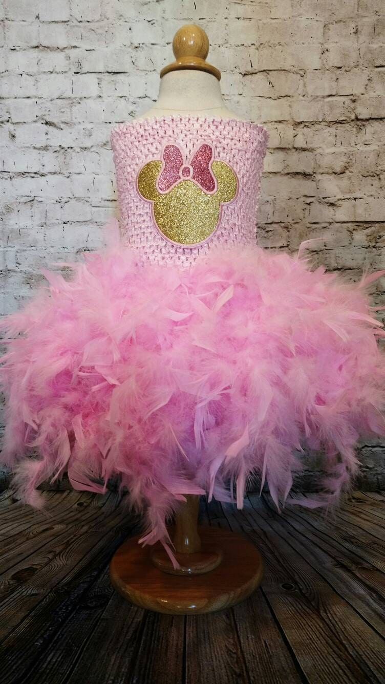 Minnie Mouse Pink And Gold First Birthday Dress 2nd Birthday Etsy