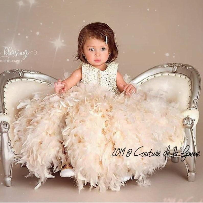 2d29dc1a37a Baby Toddler Girls EMBELLISHED Flower Girl Dress Ivory Flower