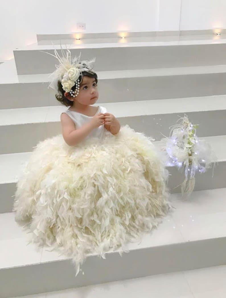 87745ac5b05 RUSTIC IVORY Flower Girl Dress Ivory Girl Dress Ivory Flower