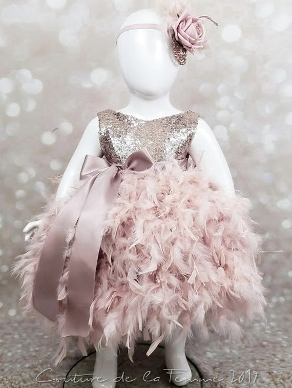 Gold Beautiful Flower Girl Dress Lace Overlay Bodice Double Layered Pageant Jr