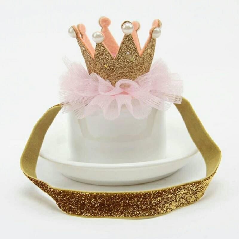 First birthday pink and gold crown headband crown headband  28b93a98a95